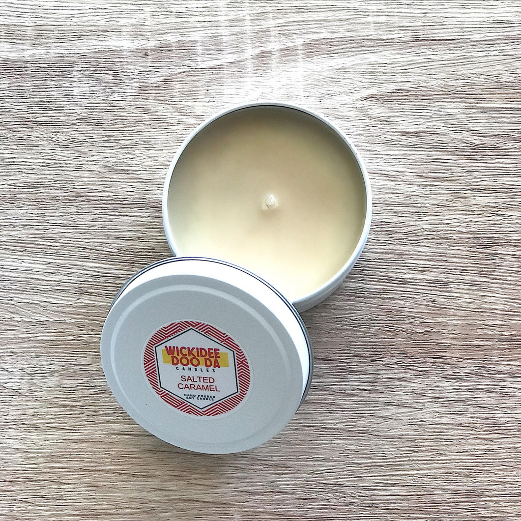 Salted Caramel Soy Candle | Small Tin