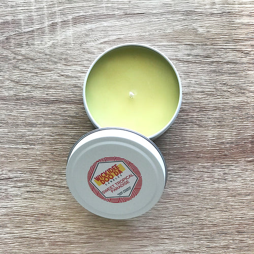 Sweet Tropical Paradise Soy Candle | Small Tin