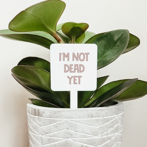 I'm Not Dead Yet Plant Marker
