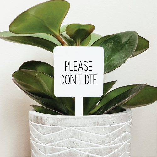 Please Don't Die Plant Marker