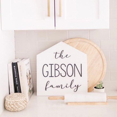 Family Name Shiplap House Sign