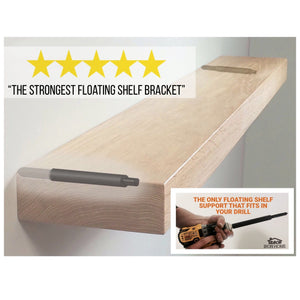 Heavy Duty Floating Shelf Rod Bracket- Patent Pending