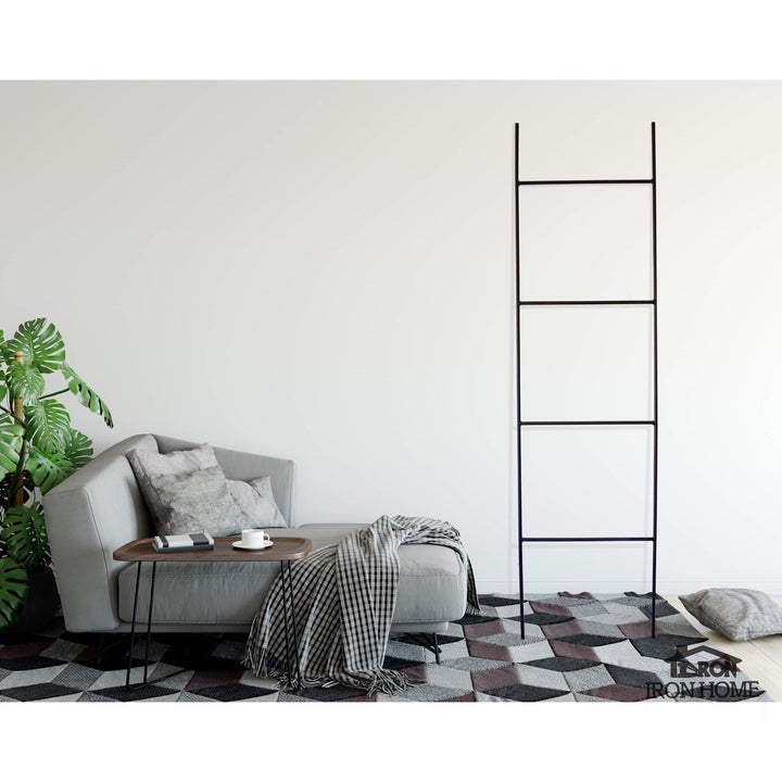 "78"" Minimalist Iron Blanket Ladder"