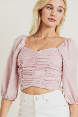 Camille Satin Crop Top