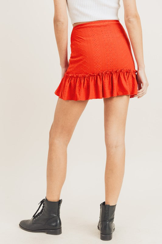 Evelyn Eyelet Skirt