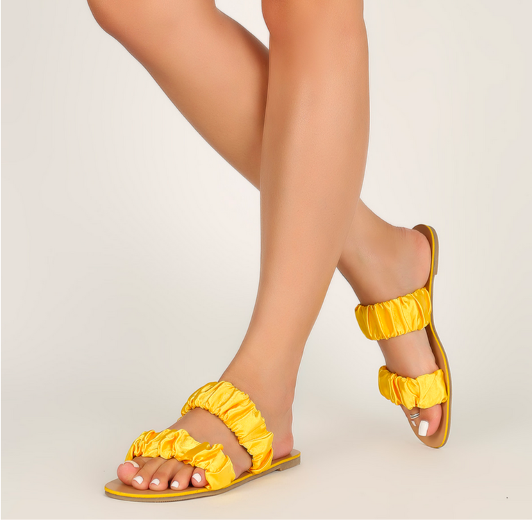 Sunshine Sandals - Yellow - Mimosas With Maria Boutique