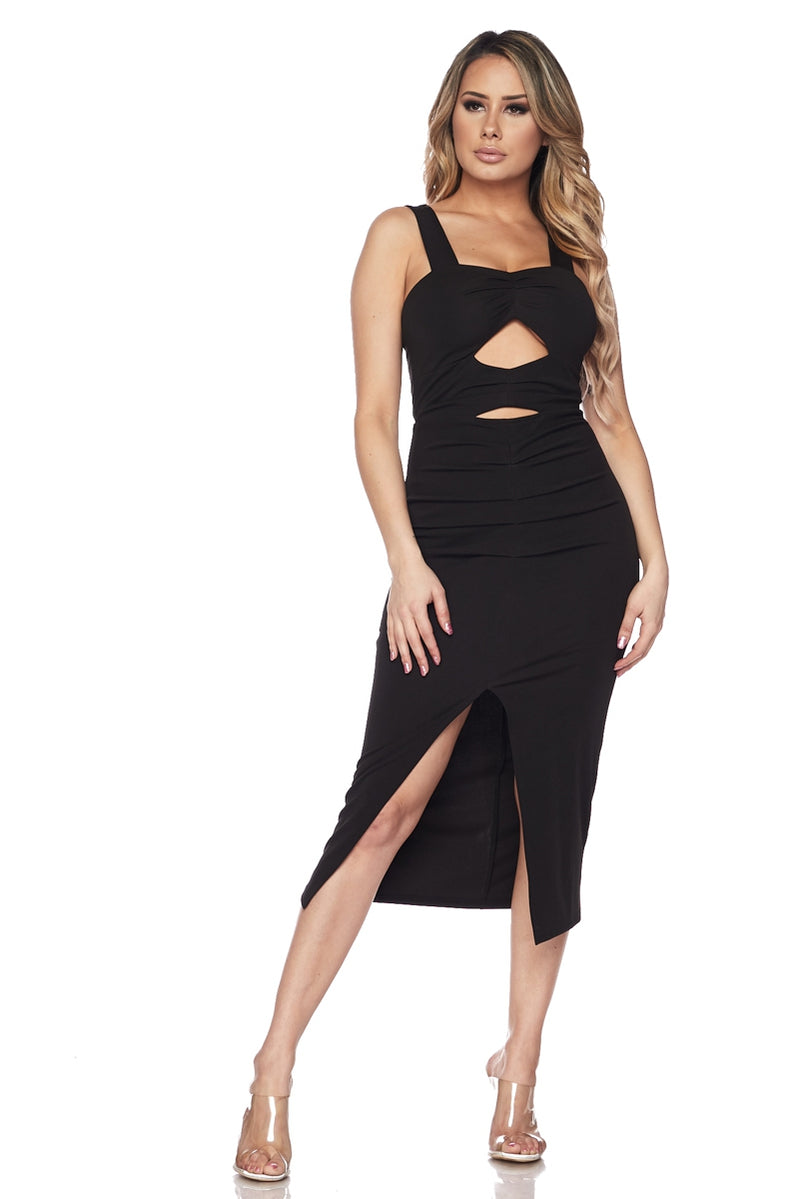 Front Cut Out Dress - Black - Mimosas With Maria Boutique