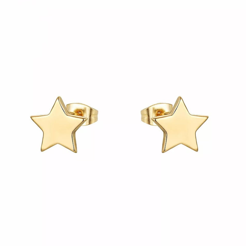 Dainty Star Stud Earrings - Gold