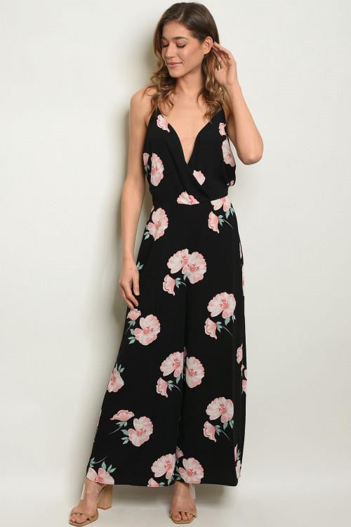 Lost in the Moment Jumpsuit - Black Floral - Mimosas With Maria Boutique