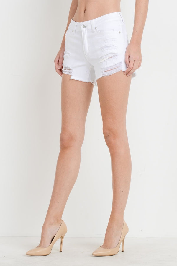 Gabriella Denim Shorts - White