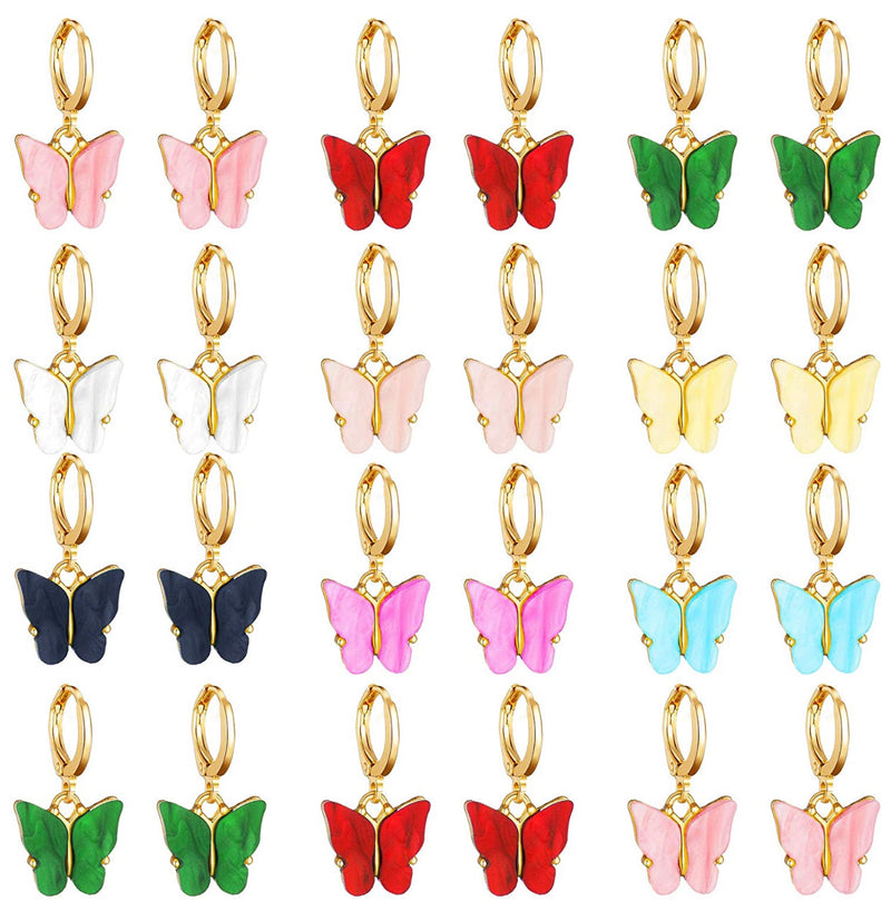 Butterfly Huggies Earrings