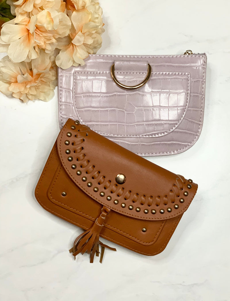 Lilac Croc Belt Bag - Mimosas With Maria Boutique