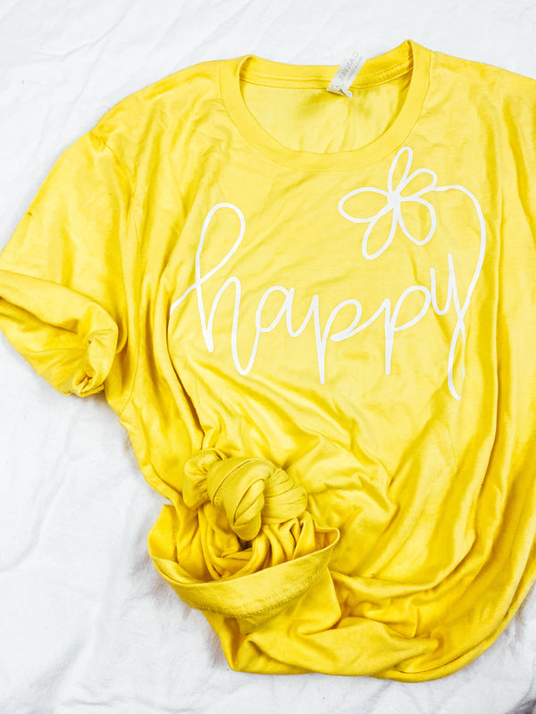 Happy Tee - Yellow
