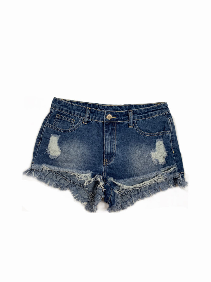 Distressed Denim Shorts - Mimosas With Maria Boutique