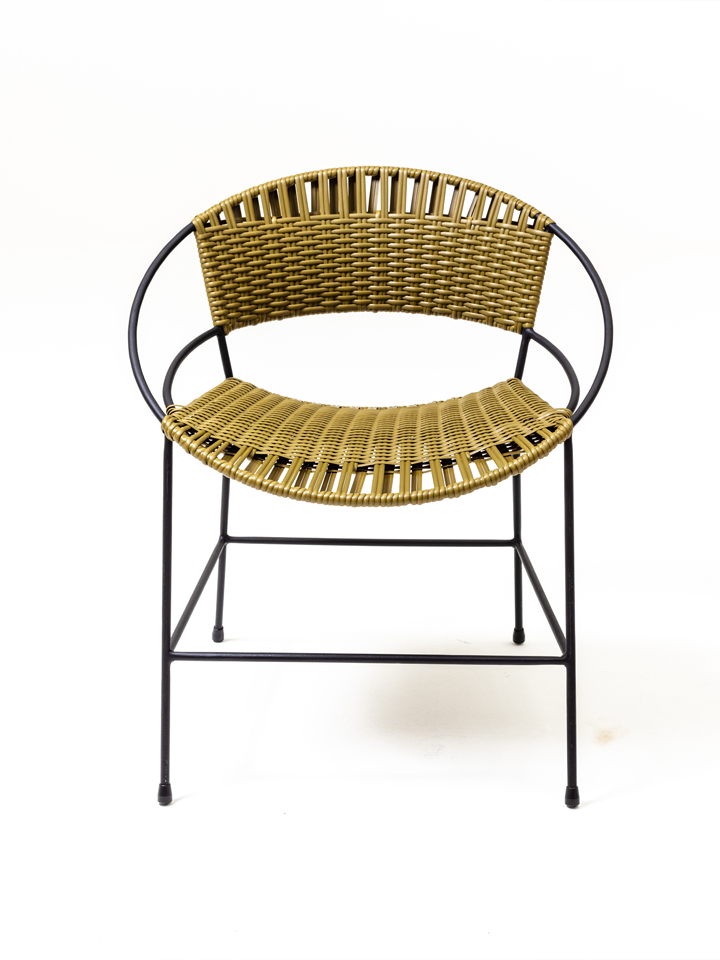 OLIVE WOVEN DINING CHAIR
