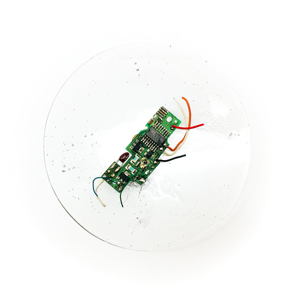 CKT-SP-001 | Parabola Brooch | Printer Circuit