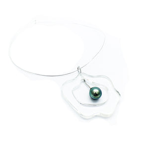 Orotrasparente | Cellular Necklace | Tahiti pearl | White gold
