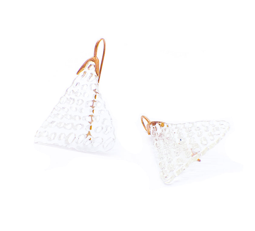 Orotrasparente | Triangle earrings