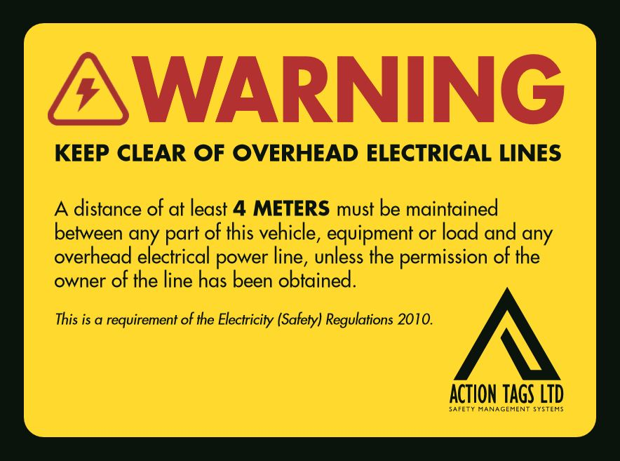 Keep Clear Overhead Elerical Lines - (pack 5)