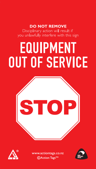 Equipment Out of Service Warning Tags (Pack of 20)