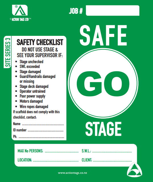 Go Safe Stage (Pack of 25)