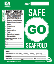 Load image into Gallery viewer, Go Safe Scaffold (50 pack)