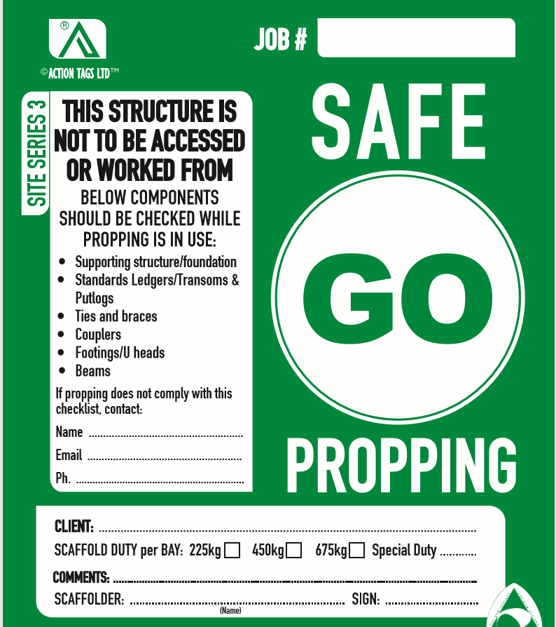 Go Safe Propping (pack 25)