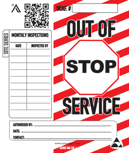 Out of Service Warning Tags (Pack of 25)