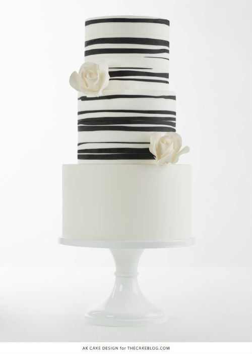 Modern Organic Cake on a 12inch White Cake Stand