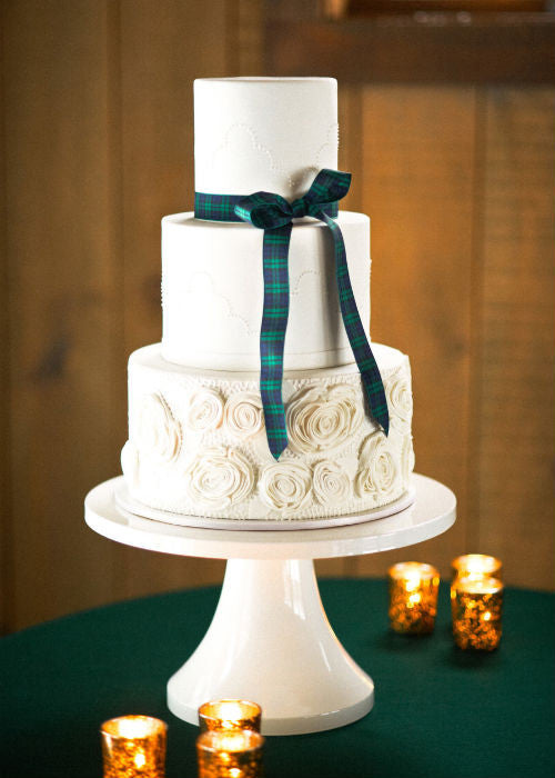 Simply Elegant Cake on a 14 inch White Cake Stand