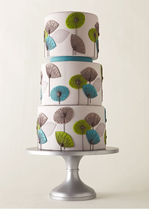 Mod Cake on 14 inch Silver Cake Stand