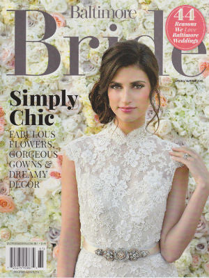 Baltimore Bride, Summer/Spring 2016, Cover, cake stand