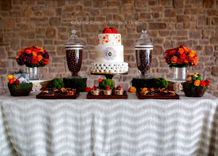 Scrumptious Dessert Display with a 12 inch Black Cake Stand