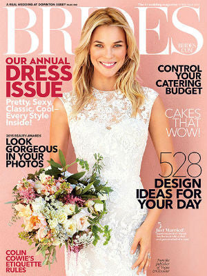 Brides, April/May, Cover, cake stands