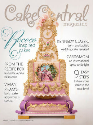 Cake Central, Feb/Jan 2015, Cover, cake stand