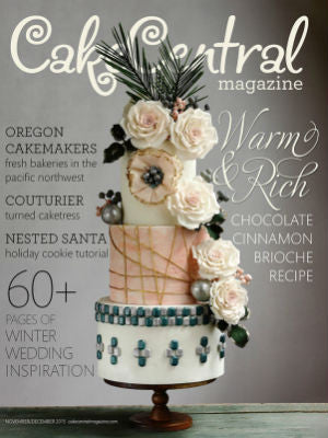 Cake Central Mag, Nov/Dec 2015, Cover, cake stand