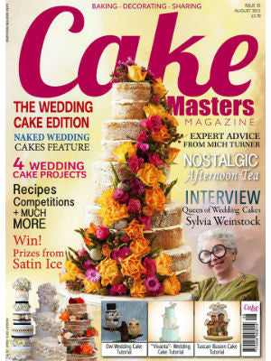 Cake Masters, Aug 2015, Cover, cake stand