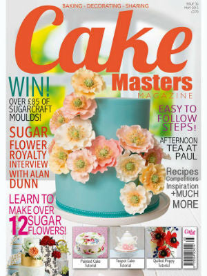 Cake Master, May 2015, Cover, cake stand