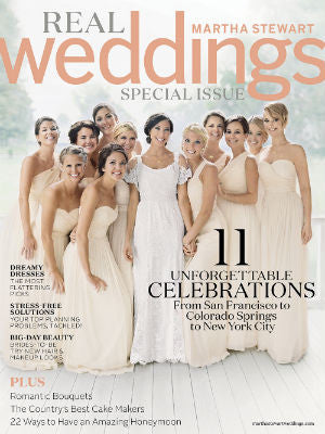 MArtha Stewart Wedding, Spring 2014, Cover, cake stands