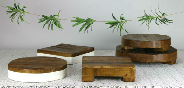 Sarah's Finds: Reclaimed Wood Platforms & Plateaus
