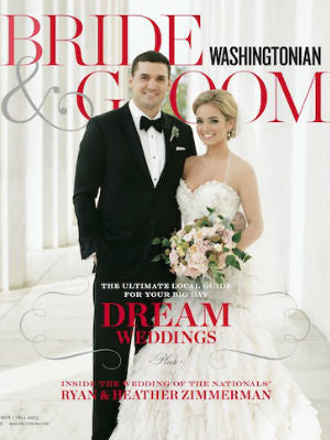 Washingtonian Bride & Groom, summer 2013, Cover, cake stands