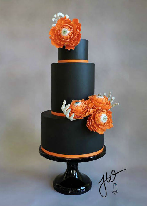 Halloween Eye ball cake on 14 inch Black Cake Stand