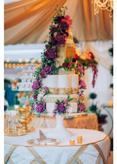 Beautiful Massive Cake on White 24 inch Cake Stand