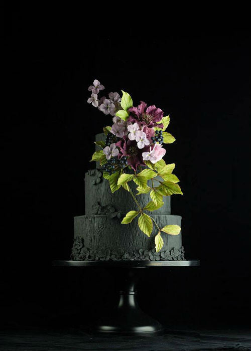 Classy Stunning Cake on 14 inch Black Cake Stand