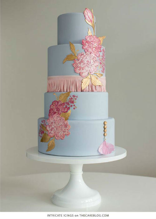 Wedding Cake Trend 2015 Cake on a 16 inch White Cake Stand