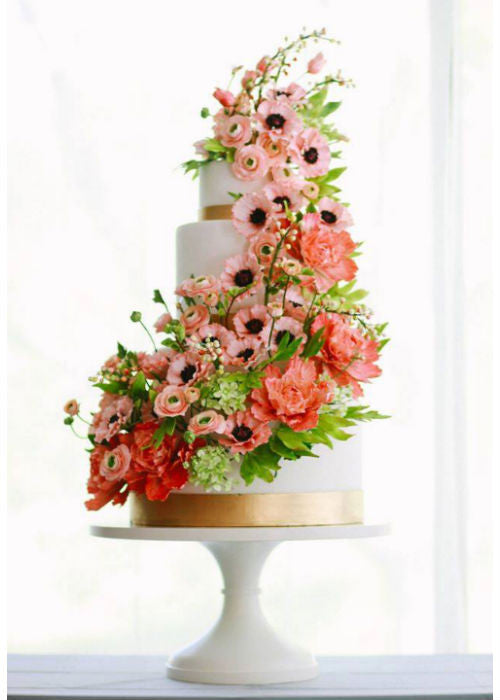 Cake from Cake Magazine on a 14 inch White Cake Stand