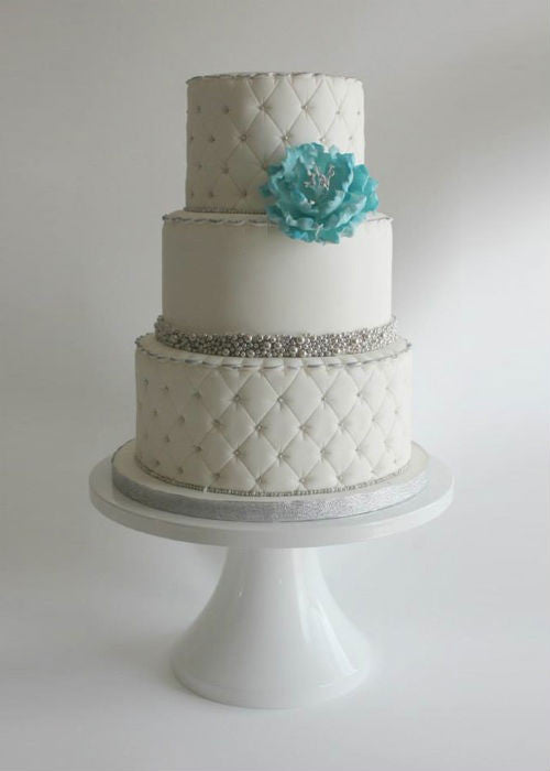 Darling Crystal Cake on a 14 inch White Cake Stand