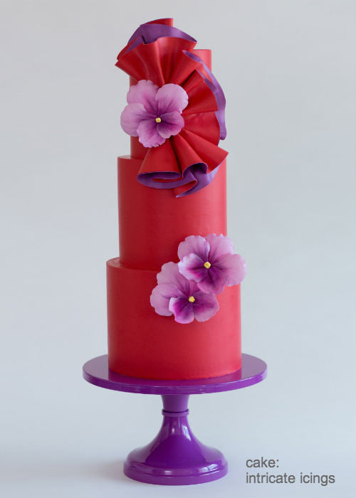 Big Bold Beautiful Cake on a 14inch Purple Cake Stand