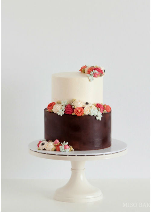 Darling Cake on 12 inch White cake stand