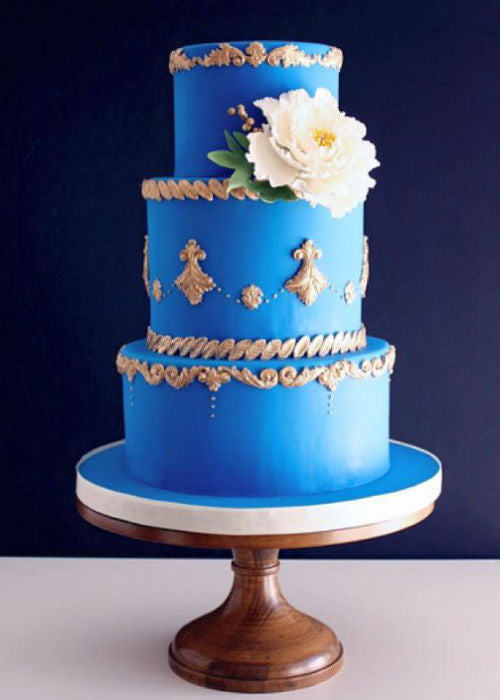Regal Cake on 16 inch Natural Wood Cake Stand
